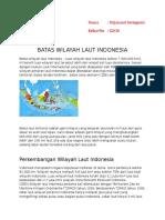 Batas Wilayah Laut Indonesia