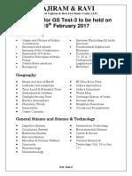 Syllabus 19th Feb 2017 GS Test-3