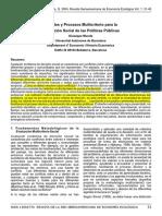 Métodos y Procesos Multicriterio