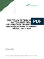 Calibracion Hidrometros Cuckow v00 2016