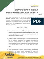 Resolutivo CEN del PRD en relación a la CNAL y a la CONAMM.