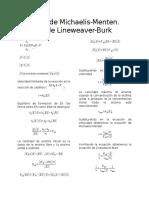 Ecuación de Michaelis-Menten (Deducción)