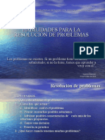 Habilidades Para La Resolución de Problemas 29-Octubre-2016
