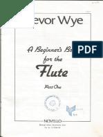 A Beginner's Book for the Flute (Part 1), Trevor Wye