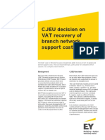 201607 CJEU Decision on VAT Recovery of Branch Network Support Costs