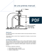Diseño de Una Prensa Manual