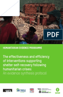 The effectiveness and efficiency of interventions supporting shelter self-recovery following humanitarian crises: An evidence synthesis protocol