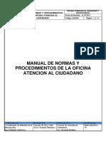 Manual de Normas y Procedimientos de Oficina de Atencion Al Ciudadano