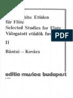 Bantai-Kovacs - Estudios Flauta Vol.2