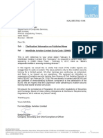 InterGlobe Aviation Ltd reply to clarification sought by the Exchange [Company Update]