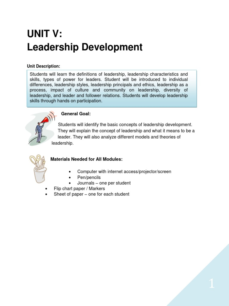 description of a leader characteristics