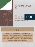 Tutorial (Week 2)