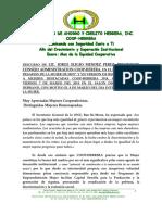 Discurso Lic. Jorge Eligio Méndez Pérez Presidente C.a. Coop-Herrera 7 Marzo 2014