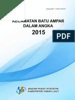 Kecamatan Batu Ampar Dalam Angka 2015