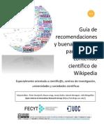AA. VV. - Guía de Recomendaciones y Buenas Prácticas Para Editar El Contenido Científico de Wikipedia