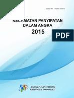 Kecamatan Panyipatan Dalam Angka 2015