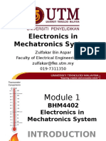 BHM4402 Electronics in Mechatronics System - Module 1 - Introduction v1