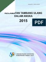 Kecamatan Tambang Ulang Dalam Angka 2015