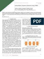 Design of Pseudo Random Binary Sequence Generator using VHDL
