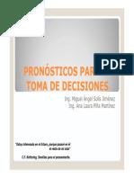 Pronósticos Para La Toma de Decisiones Con Series