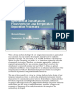 Synthesis of Demethanizer Flowsheets for Low Temperature Separation Processes Small