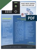 Brosur Paket Absensi MitraFinger X302 X401 X100C