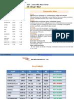 Ripples Advisory Daily Commodity Report 8-Feb 2017