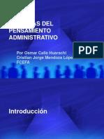 escuelasdelpensamientoadministrativo-130306214152-phpapp01