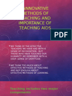 Innnovative Methods of Teaching and Importance of Teaching
