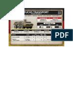 Team Yankee - Unit Card - Bundeswehr - Fuchs Transport