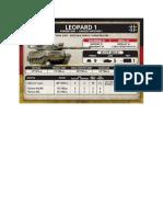 Team Yankee - Unit Card - Bundeswehr - Leopard 1 Panzerzug