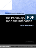CARLOS GUSSENHOVEN-The Phonology of Tone and Intonation