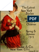 (1915) The Latest New York Styles for Women & Misses (Catalogue)