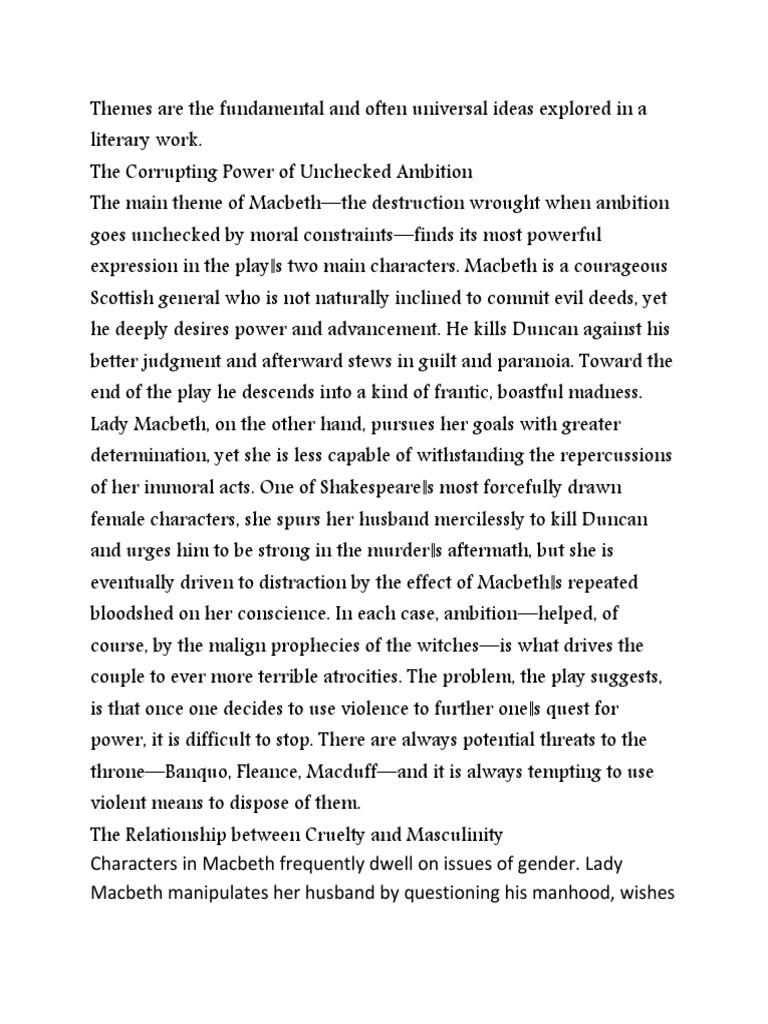theme of macbeth by william shakespeare