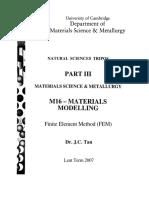 JCT M16 FE Notes Lent