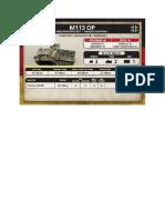 Team Yankee - Unit Card - Bundeswehr - M113 OP