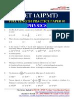 NEET_AIPMT_full Length Practice Paper 03_ezyexams