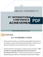 3rd International e-Conference Achievements