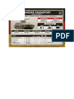 Team Yankee - Unit Card - Bundeswehr - Marder Transport