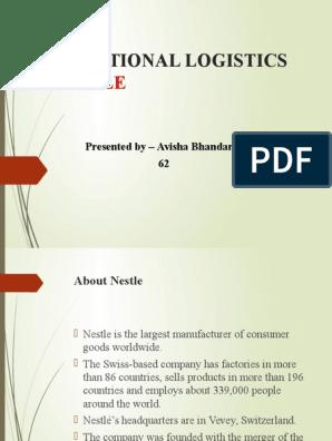 International Logistics of Nestle | Nestlé | Transport