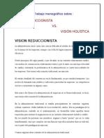 Vision Holistica y Reduccionista