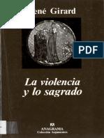 Girard - La Violencia y Lo Sagrado