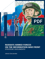Russia's armed forces on the information war front