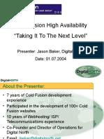 TCCFUG High Availability Presentation