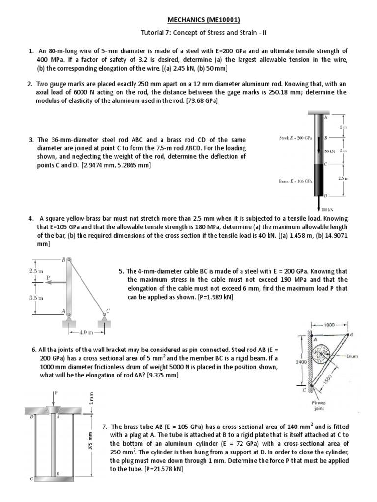 183 (1) | Ultimate Tensile Strength | Strength Of Materials