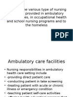 Describe the Various Type of Nursing Functions Provided