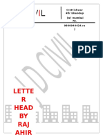 Letter Head Formate
