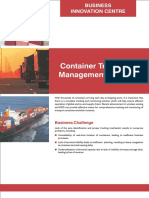 Container Tracking and Management System Flyer 2014