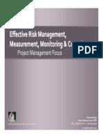 Effective Risk 23 Feb 09 Presentation Columbia