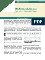Constitutional Status of FATA